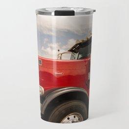 Red truck California Travel Mug