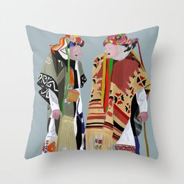 Danza de los Viejitos Throw Pillow