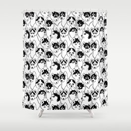 Oh Husky Shower Curtain