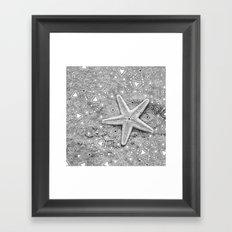pow wow star Framed Art Print