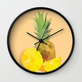 Geo Pineapple Wall Clock
