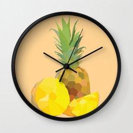 Geo Pineapple Wall Clock