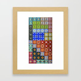 """""""Country Patchwork (ii)"""" by ICA PAVON Framed Art Print"""