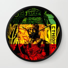 Haile Selassie Lion of Judah Wall Clock