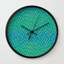 Fur Strokes on Teal Wall Clock