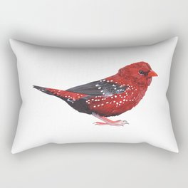 RED AVADAVAT (amandava amandava) Rectangular Pillow