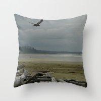 west coast Throw Pillows featuring West Coast by lyneth Morgan