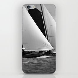 Skutsjes sailing vessels in a regatta iPhone Skin