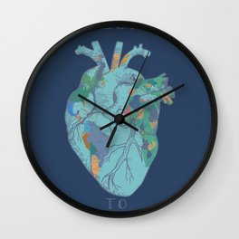 love to travel-world map 2 Wall Clock