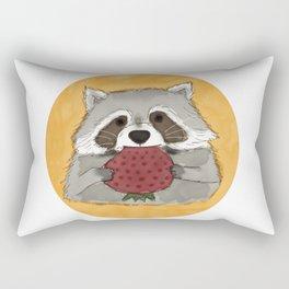 Strawberry Racoon Rectangular Pillow