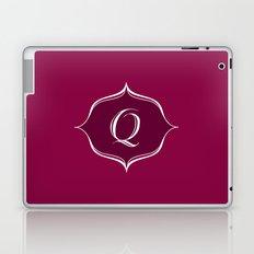Q Monogram Burgundy Laptop & iPad Skin
