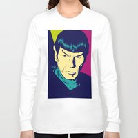 spock Long Sleeve T-shirts featuring Spock Logic by Vee Ladwa