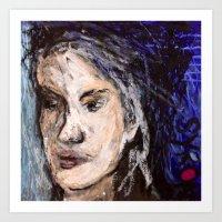 indigo Art Prints featuring Indigo by Helen Syron