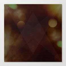 Bokeh Triangle Canvas Print