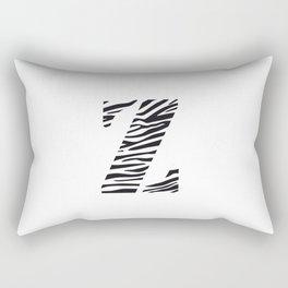 Z-ebra Rectangular Pillow