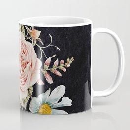 Rose and Foxglove Moody Watercolor Coffee Mug