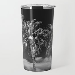 Palm Trees in Black and White on Cabrillo Beach Travel Mug