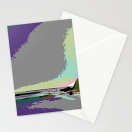 Beach Sunset - Vaporwave Aesthetic Stationery Cards