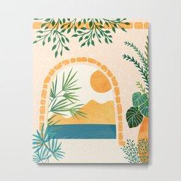 Resort Life / Boho Sunset Landscape Metal Print
