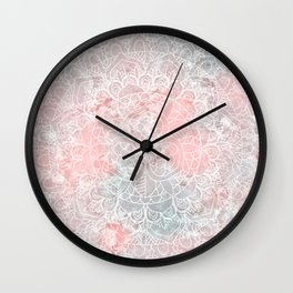 Bright Pink Mandala Design Wall Clock