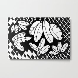 Leaves And Lattice Metal Print