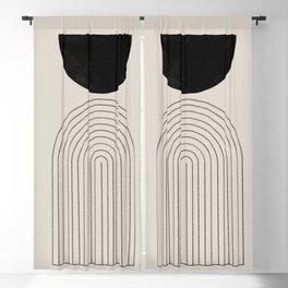 Arch, geometric modern art Blackout Curtain