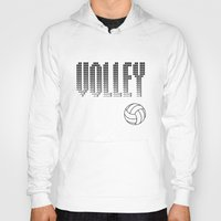 volleyball Hoodies featuring Volleyball by raineon