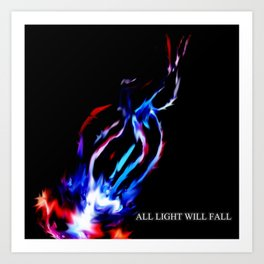 Shot of Light Art Print