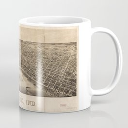 Panoramic view of Evansville, Indiana (1880) Coffee Mug