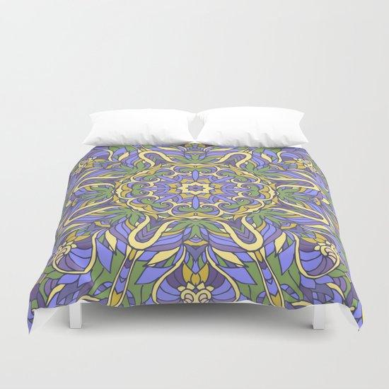 Mandala (Iris) Duvet Cover