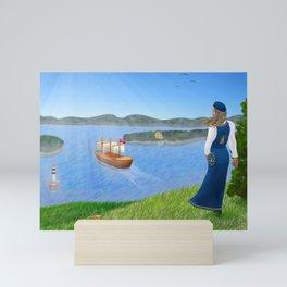 Oslo Fjord Panorama Mini Art Print