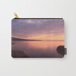 Fiery Sunset over the Porkies Carry-All Pouch