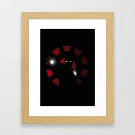 SuperHeroes Shadows : Iron Man Framed Art Print