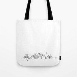 San Francisco Skyline Drawing Tote Bag