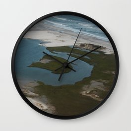 Lea-Hutaff Island at Rich's Inlet in Wilmington NC Wall Clock