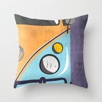 car Throw Pillows featuring car  by mark ashkenazi