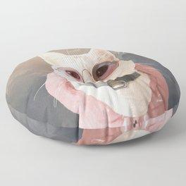Fashion Portrait Cat Floor Pillow