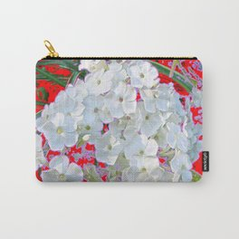 DELICATE RED & WHITE LACE FLORAL Carry-All Pouch