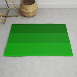 Irish Kelly Green Ombre Stripes Rug