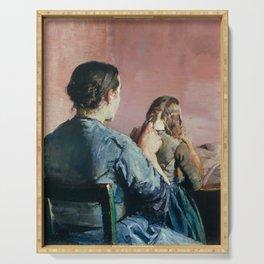 Christian Krohg, Braiding her Hair, 1888 Serving Tray