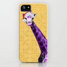 Tis The Season - Giraffe iPhone Case