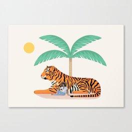 Tiger Paradise Canvas Print