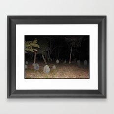 Cemetery Forest Framed Art Print