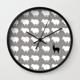 Don't be a sheep, Be a Llama Wall Clock
