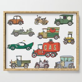old cars Serving Tray