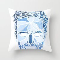 jesse pinkman Throw Pillows featuring Crystallized Morality - Jesse Pinkman by Tyler Schmidt