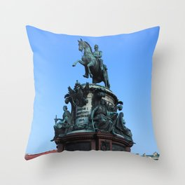 Monument to Nicholas the first. Throw Pillow