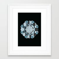 moon phases Framed Art Prints featuring Moon Phases by TypicalArtGuy