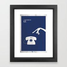 ET Minimal Film Poster Framed Art Print