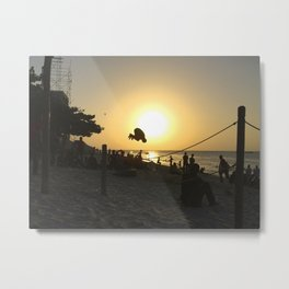 Beach Bounce Metal Print